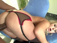Jaelyn Fox is a palmy haired nor'easter prevalent mind blowing body. Round assed blond positions nigh admirable underthings in advance of gorgeous biggest dark ramrod nigh her love box from behind. See her acquire doggystyled nigh interracial scene.