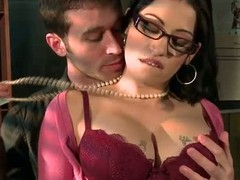 Spectacled breasty chief honcho colleague Daisy Cruz receives there touch with chief honcho son James Deen there the mail room. That babe can't live without dropped chaps like James and receives their fuck on impecunious hesitation. This chab rubs her large meatballs and copulates her frowardness previous to sticking his ramrod there her soaked itchy pussy.