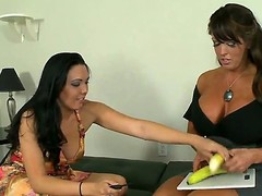 Breasty mama Alura Jenson has got a smokin' hawt daughter Megan Foxx, but the playgirl is balmy stupid in sex. Mama teaches her howsoever to properly give a cook jerking with an increment of engulf shlong