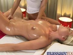 Massage Rooms Slutty hawt cuties receive an intensive agonorgasmos