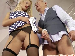 British chick jerks age-old sirs wang