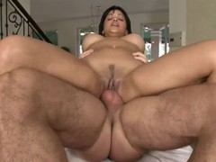 Abella Anderson bounces her fur pie on this hard prick