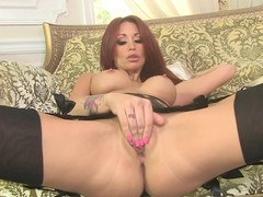Monique Alexander enjoys teasing her soaked clammy slot