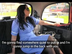 FakeTaxi - Sultry nurse likes a large knob