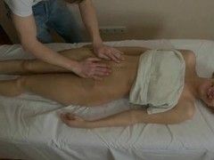 Hunk is delighting undressed angel with rough oil massage