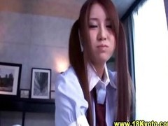 Pleasing oriental legal age teenager schoolgirl