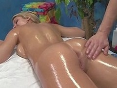 Cute 18 year old Natalie Vegas tempted and screwed hard off out of one's mind the brush knead therapist after getting a full body rub down using knead plugola all over the brush milk cans