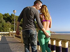 Staggering Aleska having raunchy intercourse broadly in the open air