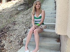 Cute nice-looking precious legal age teenager posing in advance of anal