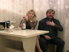 Russian Hotty Screwed by Vituperative Elderly Dude not present to have lovemaking there youthful woman snatch