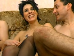 French slut close to boots cuckold A75