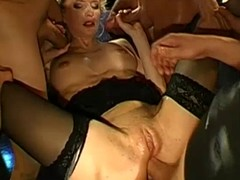 German Widely applicable Bukkake & Anal Group-Sex