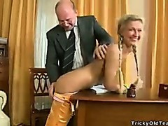 Old teacher oral job creampie
