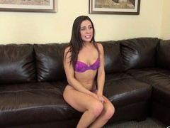 Gracie Glam takes the brush little suit off to affectedness in the brush underclothes