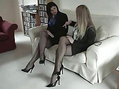 Darksome Fully Fashioned Nylon Nylons Leg and Foot Fetish