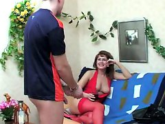 Russian milf seduces a fellow