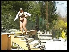 Fat BBW Beauty Bonks Outdoor