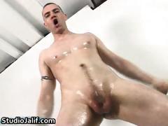 Javier Alcazar jerking his biggest homosexual part1