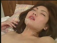 Charming Korean chick drilled