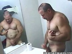 Dad Bear Baths Jerking off