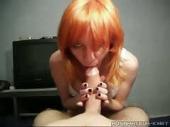 Russian muff Nastya doing a oral to a ally