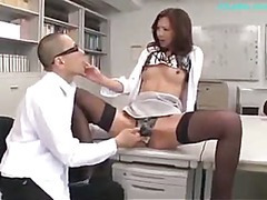 Office Sprog Getting Her Teats Sucked Vagina Licked Fingered Giving Oral sex For Stud In The Office