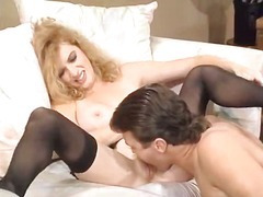 1980s porn movie scene close to virgin's 1st time coitus