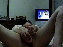 Portuguese woman - Tuga - cums front to the camera