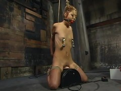Emaciated Kat receives abused increased by electrified in subjection clip