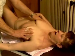 Adult wench Stephanie seduces a masseur and copulates him