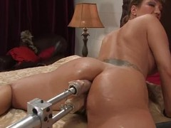 Hungry milf Ava Devine got a handful of machines to portray with
