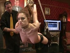Abstain hotty receives say no to vag whipped and toyed in a perverted Sadomasochism vid