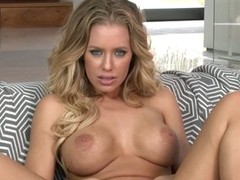 Large boobed Nicole Aniston demonstrates her soaked aperture