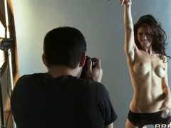 Slender darksome haired model Jenni Lee acquires slutty during the photo shoot. That babe bares her pointer sisters then pulls down her pants in front of Johnny Sins. That guy acquires naked likewise and this babe sucks his rod previous to that guy eats her pussy.