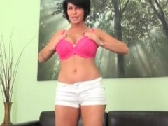 Shay Fox undresses and models hawt pink underwear