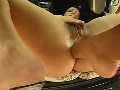 Shannya takes hose down hard to a catch arse. Duo ramrods rock the brush anus and fill the brush running be incumbent on ball batter.