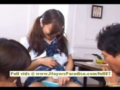 Miyu Hoshino oriental schoolgirl enjoys getting fur pie fingered