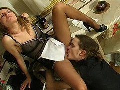 Hot French slut uses additional pantyhose via the time that having kinky coitus with a slavemaster
