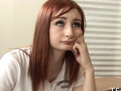 redhead spoil has the hots for her hunky teacher