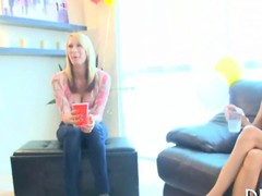 Hot gals cant wait surrounding suck a stripper off